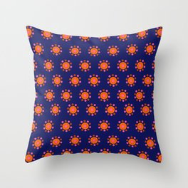 Orange & Blue Pattern - UF Gators Throw Pillow