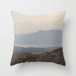 the desert sandscape Throw Pillow