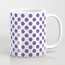 Ultra Violet Small Polka Dots Coffee Mug