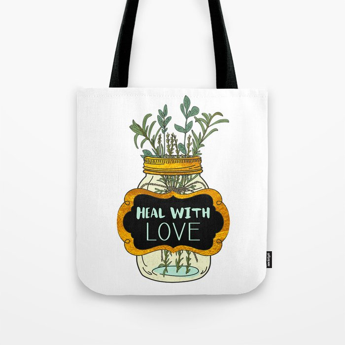 Heal With Love Tote Bag