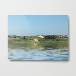 path through sand dunes from the sea Metal Print