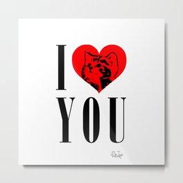 I Heart You Kitty Metal Print