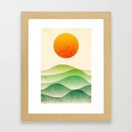 sunrise, spring Framed Art Print