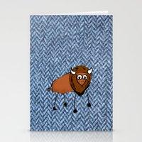 buffalo Stationery Cards featuring buffalo by Paul Simms