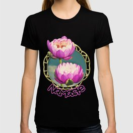Pink Lotus Flowers (Namaste) T-shirt