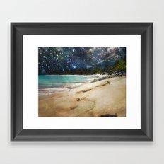 Midnight Beach Framed Art Print