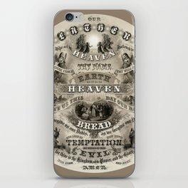 The Lords Prayer - Vintage Christian Art iPhone Skin