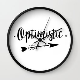 Optimistic Lettering-PM coll Wall Clock