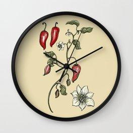 Jalapeno Botanical Wall Clock