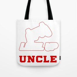 Leveled Up To Uncle product, Gamer design, Uncle Tee Tote Bag