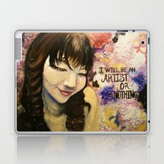 I Will Be An Artist or Nothing  Laptop & iPad Skin