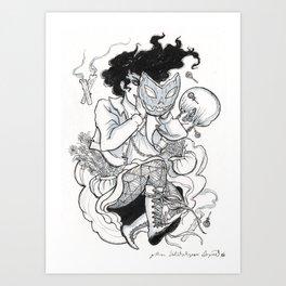 Gourd Girls 02 Art Print