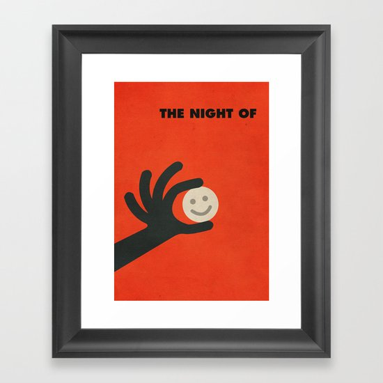 The Night Of Minimalist Poster Framed Art Print