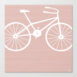 Pink Bike by Friztin Canvas Print