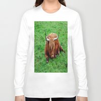 buffalo Long Sleeve T-shirts featuring buffalo by  Agostino Lo Coco