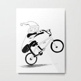 bmxsanta Metal Print