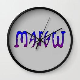 Margret (Ambigram) Namendreher Wall Clock