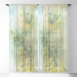 Sunshine Promise Watercolors Sheer Curtain