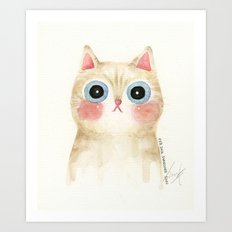 Cognac the Cat Art Print