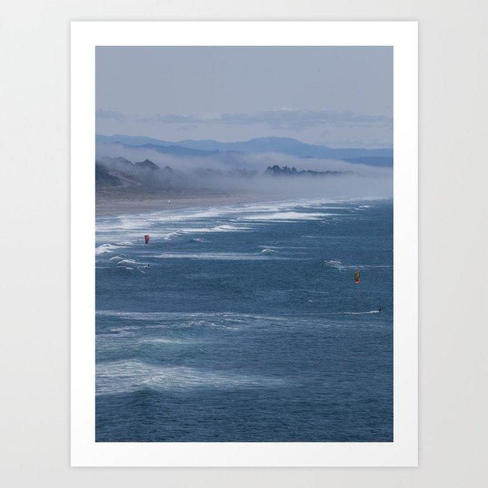 Kitesurfers Art Print