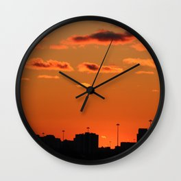 Sunset March 2018 Wall Clock