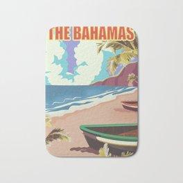 The Bahamas travel poster Bath Mat