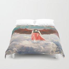 Lady of the Clouds Duvet Cover