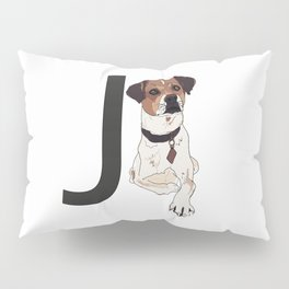 J is for Jack Russell Terrier Dog Pillow Sham