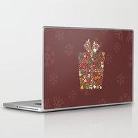 gift card Laptop & iPad Skins featuring Christmas Gift 01 by BlueLela