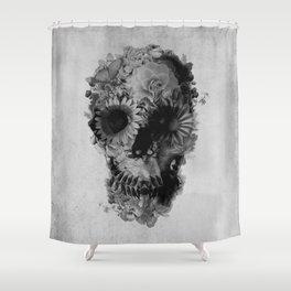 Skull 2 / BW Shower Curtain