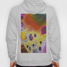 Colorful acrylic marble flowing colors Hoody