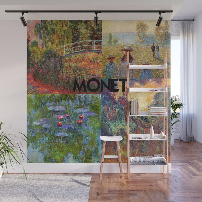 Monet Collage Wall Mural By Ralley Society6