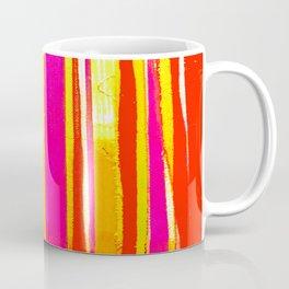 pink red yellow white stripes Coffee Mug