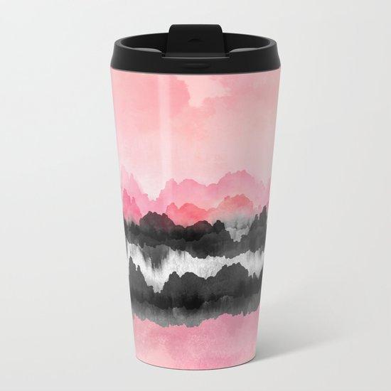 Pink Mountains Metal Travel Mug