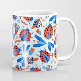 Classic Ladybug Botanical  Coffee Mug