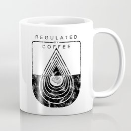 Caffeine on the Brain // Regulated by Coffee Espresso Drip Distressed Living Graphic Design Coffee Mug