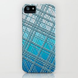 Steel Blue Sky Lines iPhone Case