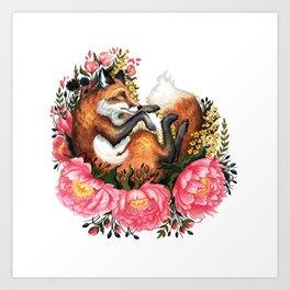 Flora and Fauna Fox Art Print
