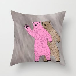 Build A Bigger Bear, Catch a Load of Salmon Throw Pillow