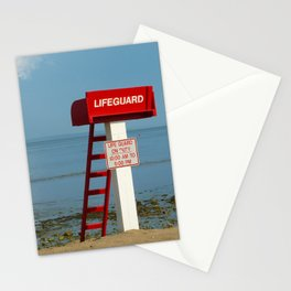 Life Guard off duty at the beach Stationery Cards