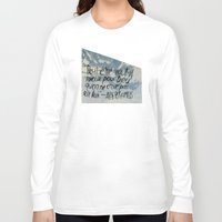 camus Long Sleeve T-shirts featuring OH NO CAMUS AGAIN by Josh LaFayette