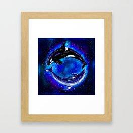 Whale's Infinity Framed Art Print