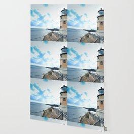 Lakeside Lighthouse Wallpaper
