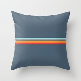 Sedna - Classic Retro Summer Stripes Throw Pillow