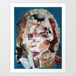 SHATTERED VISAGE Art Print