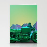 motorbike Stationery Cards featuring motorbike by zKrajnc