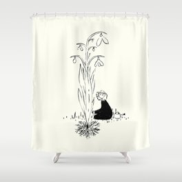 It started with a seed black and white Shower Curtain