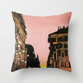 SPANISH STEPS SUNSET Throw Pillow