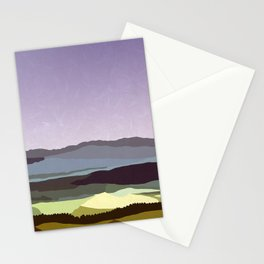 Sunset over the Valley Stationery Cards