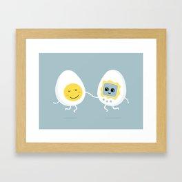 Love is blind. Friendship closes its eyes. Framed Art Print